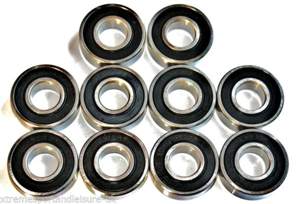 10 Pack 6304 2rs  20x52x15w SEALED HIGH PERFORMANCE CARTRIDGE BEARINGS