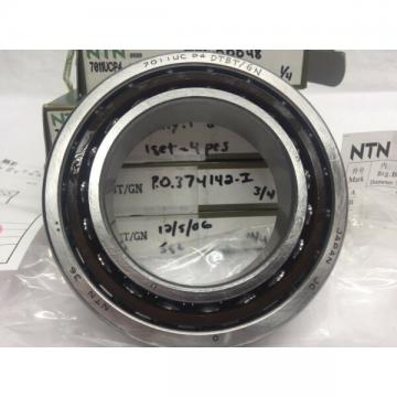 NTN 7011UCP4 Single Angular Contact Ball Bearing Matched Set Of 4 55x90x18