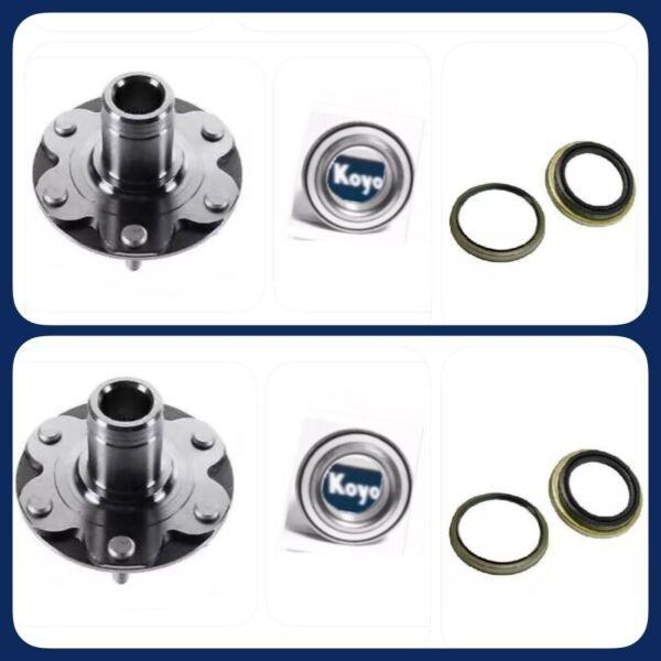 FRONT WHEEL HUB &OEM KOYO BEARING &SEAL FOR TOYOTA TUNDRA 2000-06) 4WD ONLY PAIR #1 image
